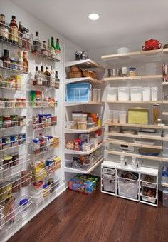 Use extra wall space to store pantry essentials.