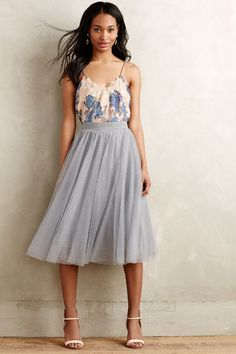 Tulle Midi Skirt - anthropologie.com #anthrofave