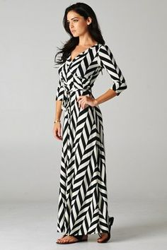 Black and White long Maxi perfect for Fall!  Catch Bliss Boutique.  Lovely!