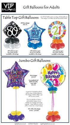 Gift balloons for Adults