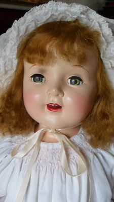 Antique Composition Doll Large 25 Looks Like Shirley Temple Hard Plastic Head | eBay
