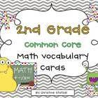 Common Core Math Vocabulary Cards