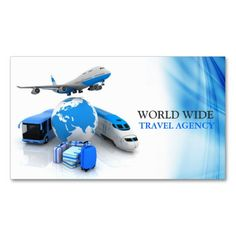 Travel Agent Business Card   Card templates and Business cards