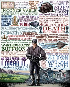 The Ultimate Princess Bride Poster. Iconographic pop culture prints from artist Chet Phillips. Also posters for The Big Bang Theory, O Brother, Where Art Thou? and Firefly at his Etsy Store here. For the DIY inspiration Princess Bride Monopoly Board go here.