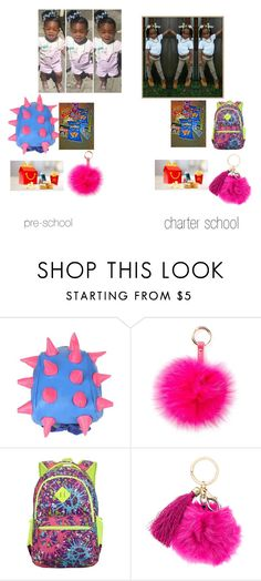 """""""kids for school"""" by miyahbooslayy ❤ liked on Polyvore featuring Junk Food Clothing and RAJ"""