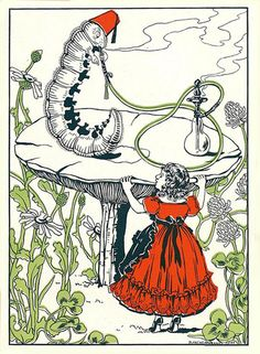 Blanche McManus - Alice and the Caterpillar (1876)