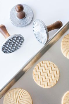 Nordic Ware Geo Cookie Stamps cookie recipe & photo - livforcake.com