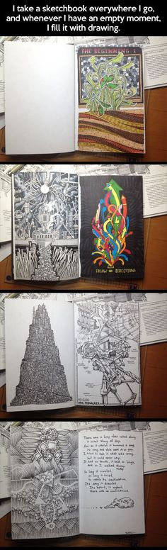 Sketchbook with some of the best drawings ever made…