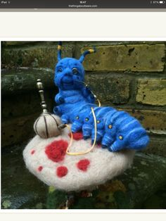 Needle felted Absolem the caterpillar by Sam Glanville…