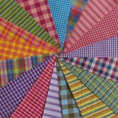 Homespun cotton fabric, precut quilt squares.