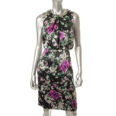 HUGO-BOSS-NEW-Multi-Silk-Embellished-Lined-Cocktail-Dress-8-BHFO