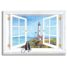 Pigeon Point Lighthouse Faux Window Scene Original Painting Wall Plaque By  Wayfair