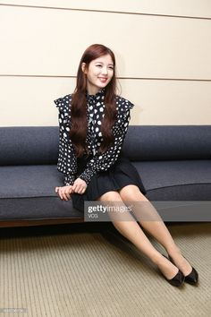 South Korean actress and model Kim Yoo-jung receives an interview on February 2017 in Taipei, Taiwan of China. Get premium, high resolution news photos at Getty Images Kim Yoo Jung, Korean Actresses, Taipei, Asian Woman, Asian Beauty, Interview, Actors, High Heel, Model