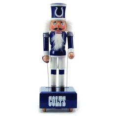 $40.00-$40.00 NFL Indianapolis Colts Wind Up Musical Nutcracker