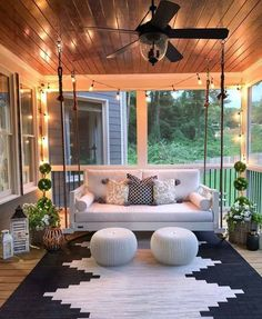 30 Gorgeous And Inviting Farmhouse Style Porch Decorating Ideas - - Tis the season of summer days and outdoor spaces to enjoy them, so check out our fab collection of farmhouse style ideas for your porch. Farmhouse Style, Farmhouse Decor, Farmhouse Homes, Farmhouse Ideas, Farmhouse Design, Modern Farmhouse Porch, Farmhouse Chandelier, Antique Farmhouse, Farmhouse Interior
