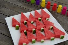 christmas tree watermelon