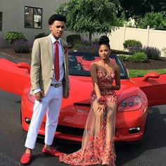Cheap prom dresses, Buy Quality african prom dress directly from China black dresses for prom Suppliers: 2017 Red Evening Dress African Prom Dress for Black Women Appliques Prom Dresses Vestidos Prom Outfits, Couple Outfits, Homecoming Dresses, Dope Prom Dresses, Prom Couples, Cute Couples, Cute Dresses, Beautiful Dresses, Prom Goals