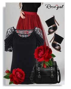 """Rosegal 17."" by adelisamujkic ❤ liked on Polyvore featuring women, fashionset and rosegal"