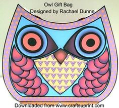 Decoupage Owl Gift Bag on Craftsuprint - View Now!