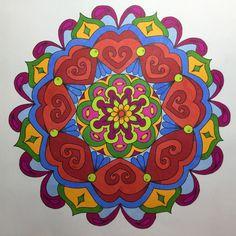 Creatie 2016-33, 17-12-2016 72 Mandala fun (roze, Action) met Spectrum Noir Markers