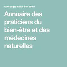 Annuaire des praticiens du bien-être et des médecines naturelles