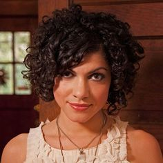 Short Curly Casual Hairstyles with Bangs for Thick Hair Women with Oval Faces 2015