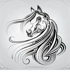 Find Vector Silhouette Horses Head Ornament stock images in HD and millions of other royalty-free stock photos, illustrations and vectors in the Shutterstock collection. Horse Head, Horse Art, Horse Drawings, Art Drawings, Horse Stencil, Horse Tattoo Design, Horse Silhouette, Wood Burning Art, Quilling Patterns