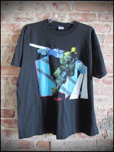 Vintage Deadstock 90's Super Nintendo Killer Instinct Video Game Promo Shirt by RackRaidersVintage, $20.00