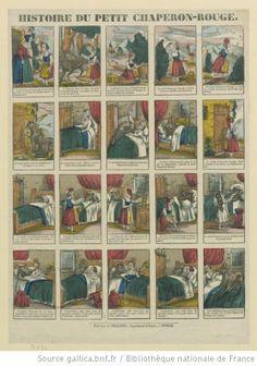 Histoire du Petit Chaperon rouge, Image d'Epinal, Pellerin, 1843