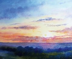 How to paint a sunrise and sunset