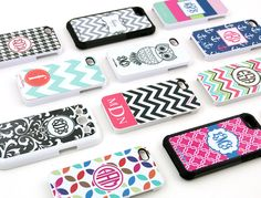 Personalized tech cases from Initial Outfitters.  So many designs to choose from!  Available for iPhone 4, iPhone 5, Samsung Galaxy S3, Kindle Fire, and iPad.