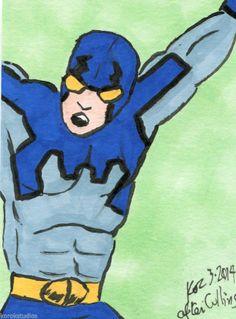 BLUE BEETLE Sketch Card by Korey Watkins