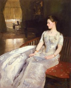 """""""Mrs. Cecil Wade"""" by John Singer-Sargent. I just want to wear that dress..."""