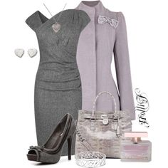 """""""* GREY & PURPLE * Contest Entry"""" by hrfost1210 on Polyvore"""