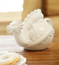 Bone China Dragon Teapot!  LOVE this!!!