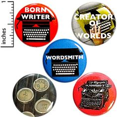 57 Best Writer Buttons Pins images in 2019 | Cool backpacks