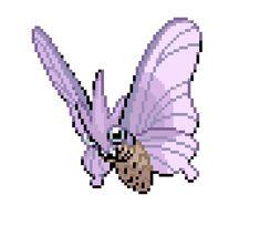 Картинки по запросу pokemon butterfly pixel art Pokemon Fusion, Pixel Art, Animals, Animales, Animaux, Animais, Animal