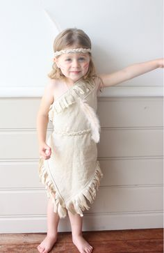 i've had a few queries about this indian princess costume lately - I guess it's being pinned for halloween! layla looked so cute. it's a linen/cotton blend and i have no pattern - it was trial + error (as most of my sewing projects are)