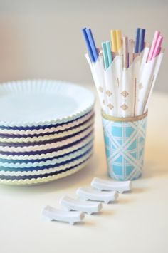 Dip DIY Chopsticks... Painted with Nail Polish Fashion + DIY + Home + Lifestyle
