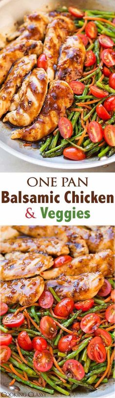 Quick and Easy Healthy Dinner Recipes - One Pan Balsamic Chicken and Veggies - Awesome Recipes For Weight Loss - Great Receipes For One, For Two or For Family Gatherings - Quick Recipes for When You're On A Budget - Chicken and Zucchini Dishes Under 500 Calories - Quick Low Carb Dinners With Beef or Shrimp or Even Vegetarian - Amazing Dishes For Picky Eaters - http://thegoddess.com/easy-healthy-dinner-receipes