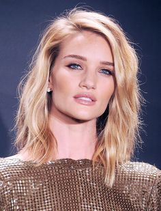 Rosie Huntington-Whiteley Brushed-Out Beach Wave | Spring 2015 Hairstyle Trends | Who What Where