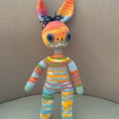 Monster barevný Crochet Dolls, Dinosaur Stuffed Animal, Toys, Animals, Animales, Animaux, Animal, Games, Animais