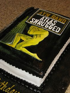Ayn Rand's Atlas Shrugged Book Cake