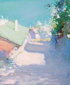 ۩۩ Painting the Town ۩۩ city, town, village house art - Peter Bezrukov. Landscape Art, Landscape Paintings, Russian Art, Painting Inspiration, Contemporary Art, Art Gallery, Illustration Art, Artwork, Pictures