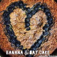Banana & oat cake, yumm Egg free,  Wheat free Dairy free Vegan