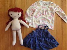 Making doll clothes from baby clothes, super cute & quick!