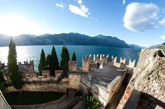 A fabulous view from the terrace of Malcesine Castle - Location Malcesine Castle by Romantic Weddings on Lake Garda   Wedding planners for the most romantic Lake Garda weddings in Italy