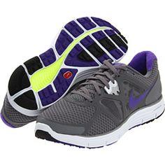 Nike Lunarglide+ 3 Cool Grey/Pure Platinum/Volt/Pure Purple - Zappos.