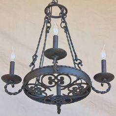 Spanish Revival Chandelier-Light of Tuscany - STAIRWELL