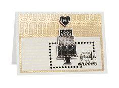 Gorgeous Card using Kaisercraft Wedding Die & Stamp Set